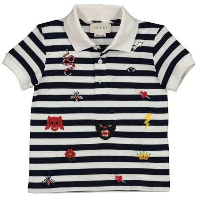 Picture of Gucci 548404 baby poloshirt white
