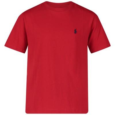 Afbeelding van Ralph Lauren 674984 kinder t-shirt rood