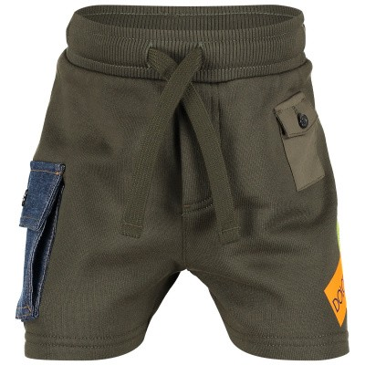 Picture of Dolce & Gabbana L1QE7 baby shorts army