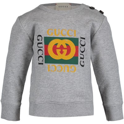Picture of Gucci 497819 baby sweater grey