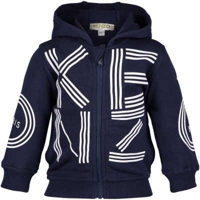 Picture of Kenzo KN17547 baby vest navy