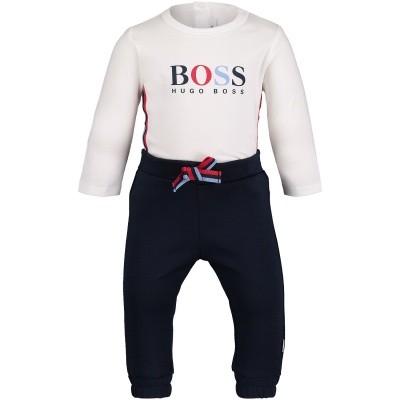Afbeelding van Boss J98225 babysetje wit