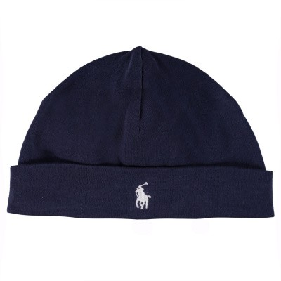 Picture of Ralph Lauren 552454 baby hat navy