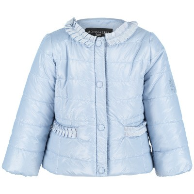 Picture of MonnaLisa 393103 baby coat light blue