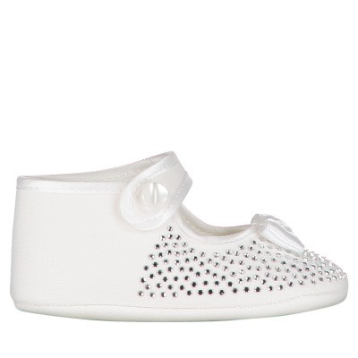 Picture of MonnaLisa 733008 baby shoes off white