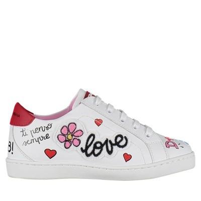 Afbeelding van Dolce & Gabbana D10689 AV083 kindersneakers wit