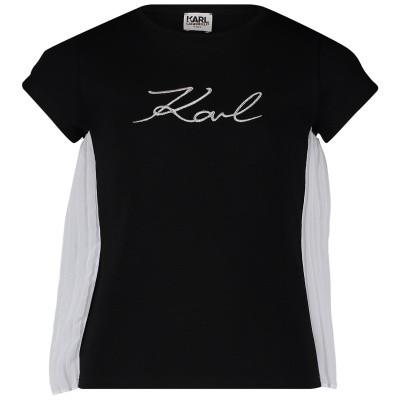 Afbeelding van Karl Lagerfeld Z15182 kinder t-shirt zwart