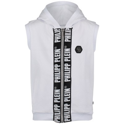 Picture of Philipp Plein BJC0008 kids vest white