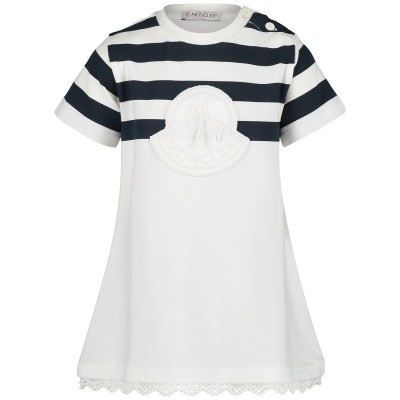 Picture of Moncler 8069650 baby dress off white