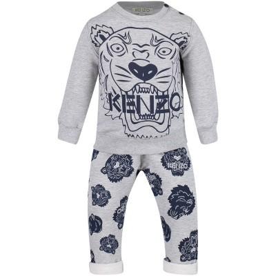 Afbeelding van Kenzo KM36507 babysetje grijs