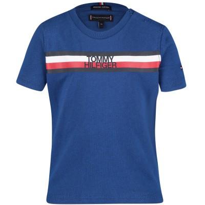 Picture of Tommy Hilfiger KB0KB04678 B baby shirt cobalt blue