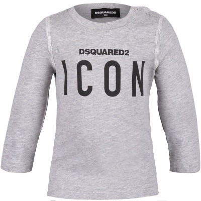 Picture of Dsquared2 DQ031Q baby shirt grey