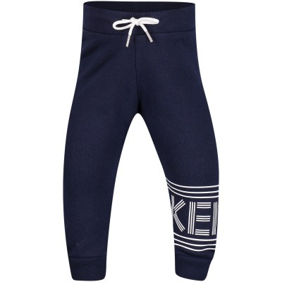 Picture of Kenzo KN23538BB baby pants navy