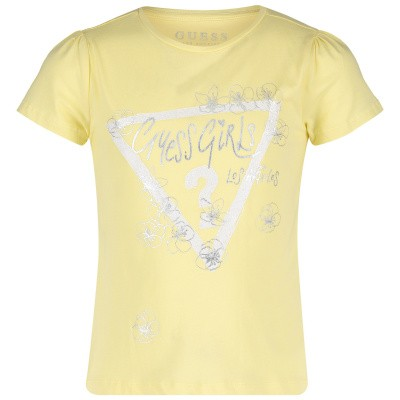 Picture of Guess K92I12 kids t-shirt yellow