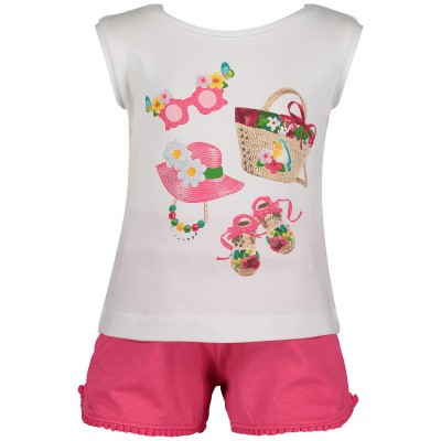 Picture of Mayoral 1232 baby set pink