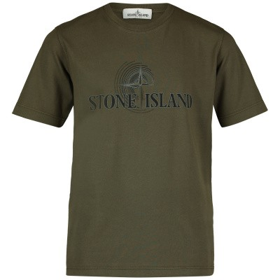 Picture of Stone Island 701621455 kids t-shirt army