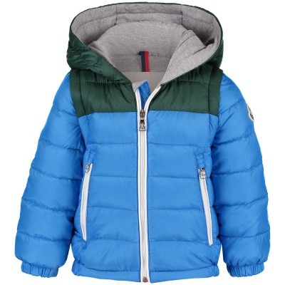 Picture of Moncler 4130205 baby coat blue