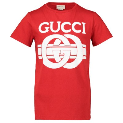 Picture of Gucci 547559 XJAHV kids t-shirt red