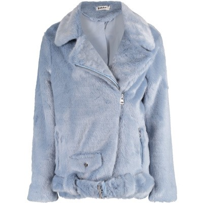 Picture of Jakke ASHLEY BIKER womens coat light blue