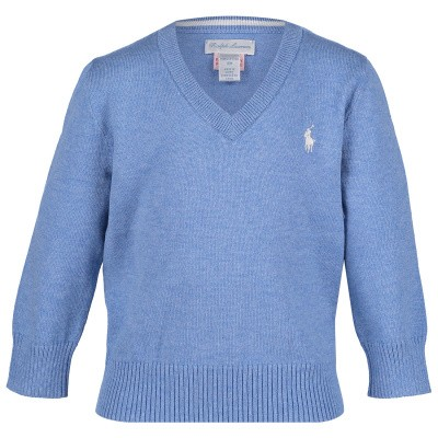 Picture of Ralph Lauren 702188 baby sweater light blue