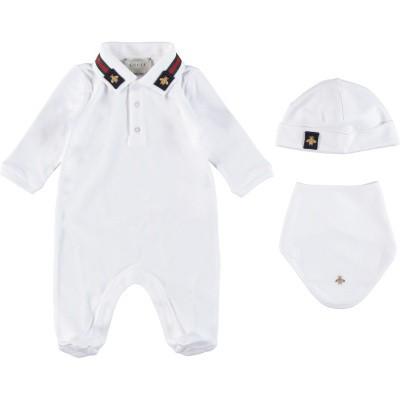 Afbeelding van Gucci 516323 babysetje wit