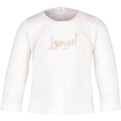 Afbeelding van Liu Jo H68039LOVED baby t-shirt off white