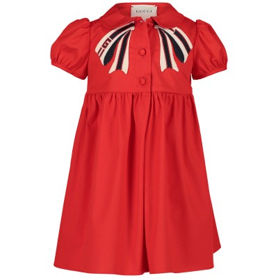 Picture of Gucci 542965 baby dress red