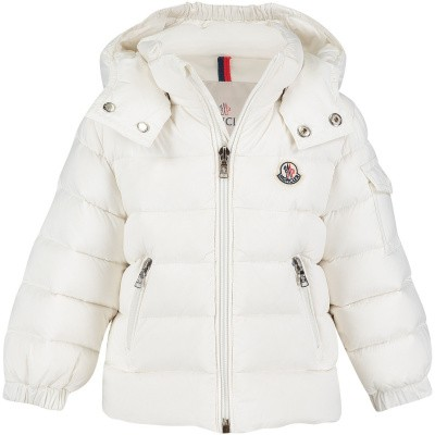 Picture of Moncler 4199405 baby coat white
