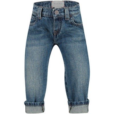 Picture of Gucci 455454 baby pants jeans