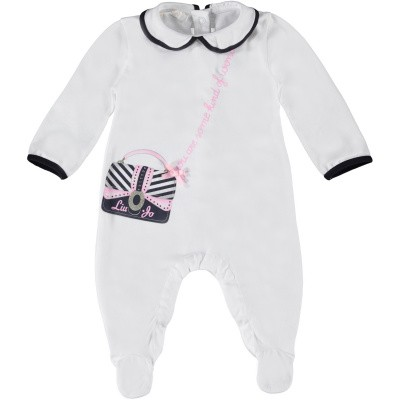Picture of Liu Jo H19053 baby playsuit white