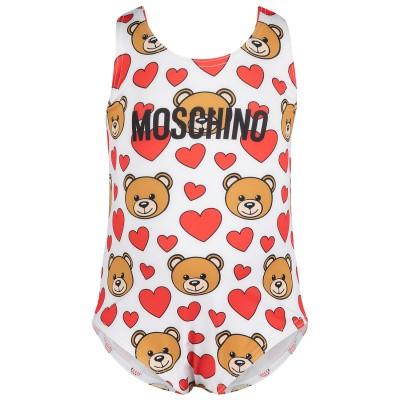 Afbeelding van Moschino MDL00A baby badkleding off white