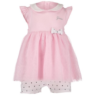 Picture of Guess S91G03 baby playsuit light pink