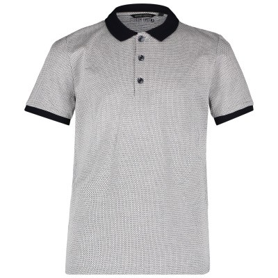 Picture of Antony Morato MKKS00391 kids polo shirt white