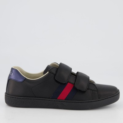 Picture of Gucci 455448 CPWP0 kids sneakers black
