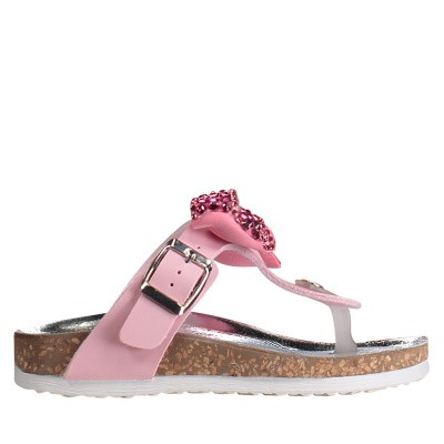Picture of MonnaLisa 8C3017 kids flipflops pink