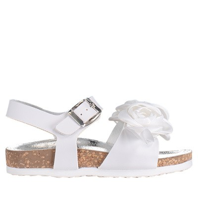 Picture of MonnaLisa 873007 kids sandals white