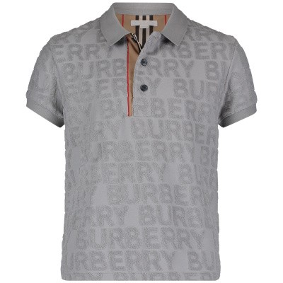 Picture of Burberry 8008968 kids polo shirt grey
