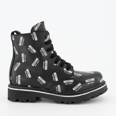 Picture of Moschino 61783 kids boots black