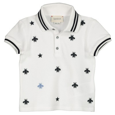 Picture of Gucci 540790 baby poloshirt white