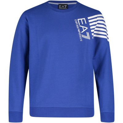 Picture of EA7 3GBM60 kids sweater cobalt blue