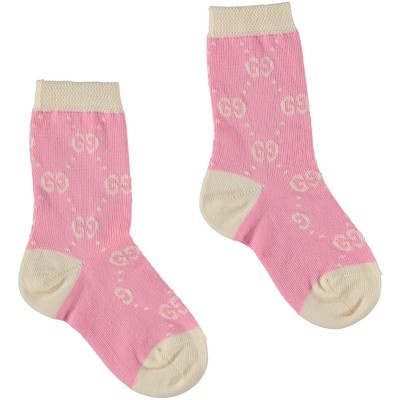 Picture of Gucci 557012 baby socks light pink