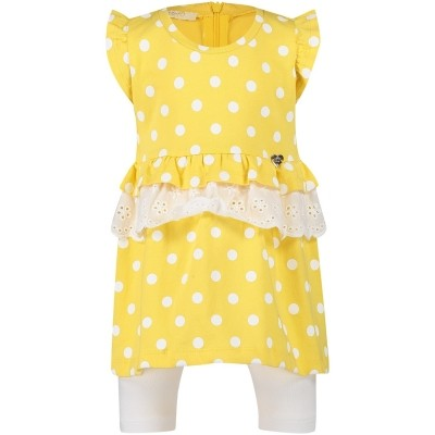 Afbeelding van Liu Jo H18072 baby jurkje geel