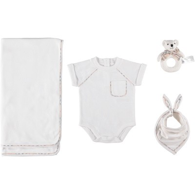 Picture of Burberry 8006545 baby set white