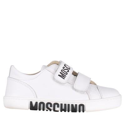 Afbeelding van Moschino 12013675 kindersneakers wit