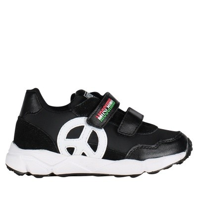 Picture of Moschino 26270 kids sneakers black