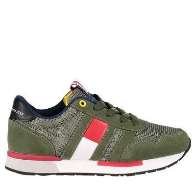 Picture of Tommy Hilfiger T3B430080 kids sneakers green