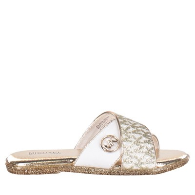 Picture of Michael Kors ZIA PADA GINGER kids flipflops gold