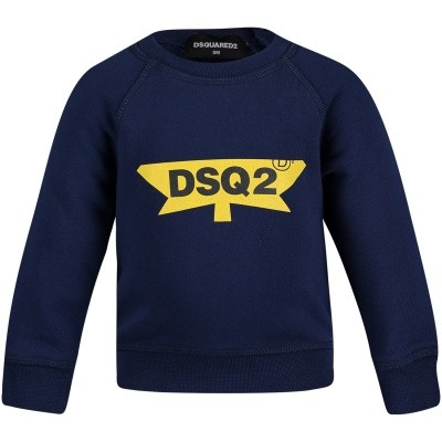 Picture of Dsquared2 DQ02XL baby sweater blue