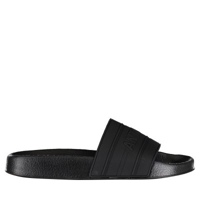 Picture of Antony Morato MMFW01098 mens flipflops black