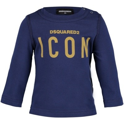 Picture of Dsquared2 DQ031Q baby shirt navy